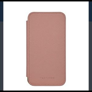 innovative design bcd3f e7533 Platinum Genuine leather folio wallet for iPhone X